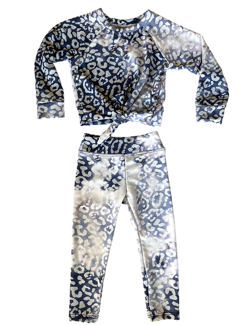 Blue Cheetah Tie Set
