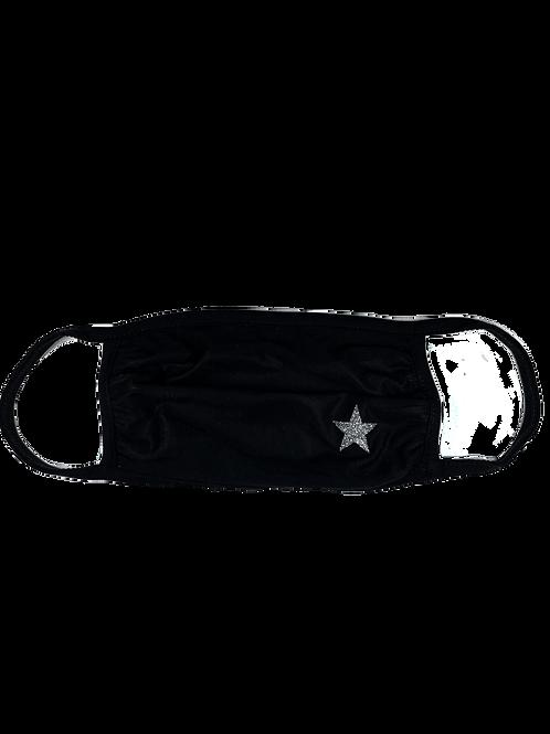 Black Mask w/ Silver Star