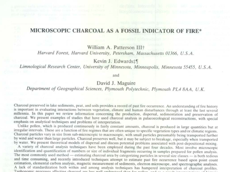 Microscopic Charcoal as a Fossil Indicator of Fire