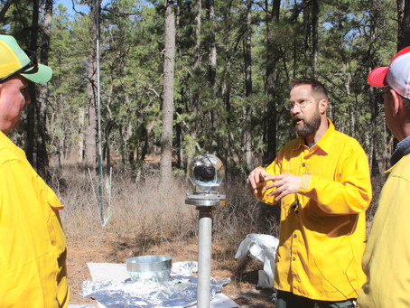 Prescribed fire research burn with 360 degree video from the NJ pinelands