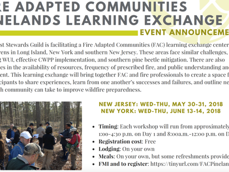 Fire-Adapted Communities Pinelands Learning Exchanges