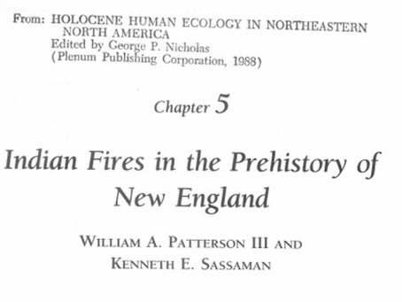 Indian Fires in the Prehistory of New England