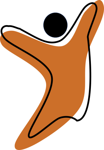What can we do? logo of a jumping figure