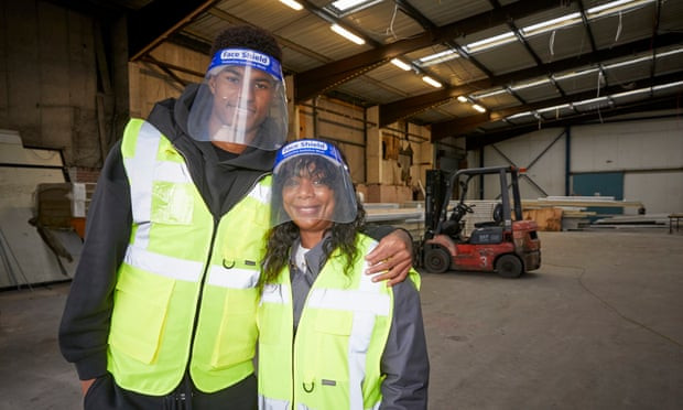 Marcus Rashford and his mum Melanie Maynard volunteer at a Manchester food bank