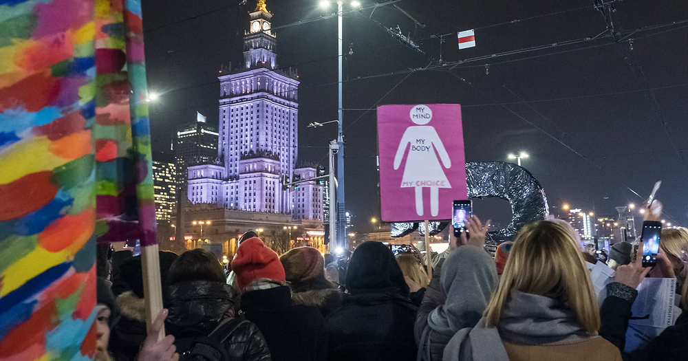 Protests in Poland against the new abortion ruling