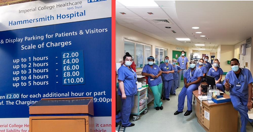 Hammersmith Hospital car park charges