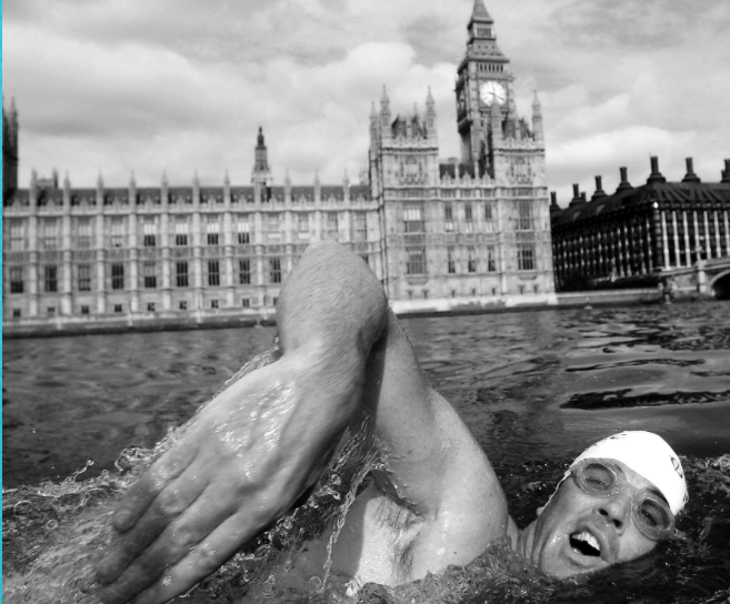 Lewis Pugh, UN Patron for Oceans, became ill a number of times when he swam the length of the Thames in 2006