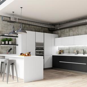imagen 3d para catálogo de cocinas
