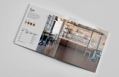 catálogo para tarimas IMA  en colaboración con Gudesign