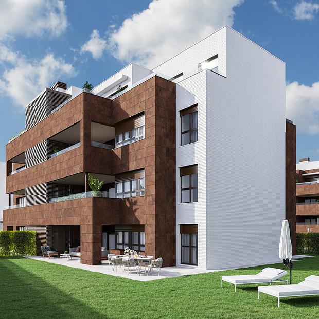 Imagen 3D realizada para publicidad de viviendas en Vitoria