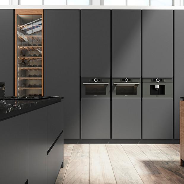 Imagen 3D para catálogo de mueble de cocina de la marca LOGOS
