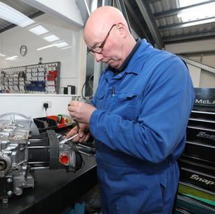 Final inspection, plugs, flywheel end fl
