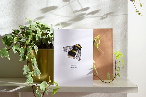 Ha-Bee Birthday - Hand Drawn Greetings Card