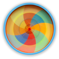 Polychromatic Logarithmic Spiral