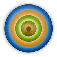 Tetrachromatic Concentric Circles