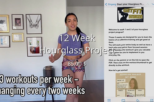 12 Week Hourglass Project - at Home