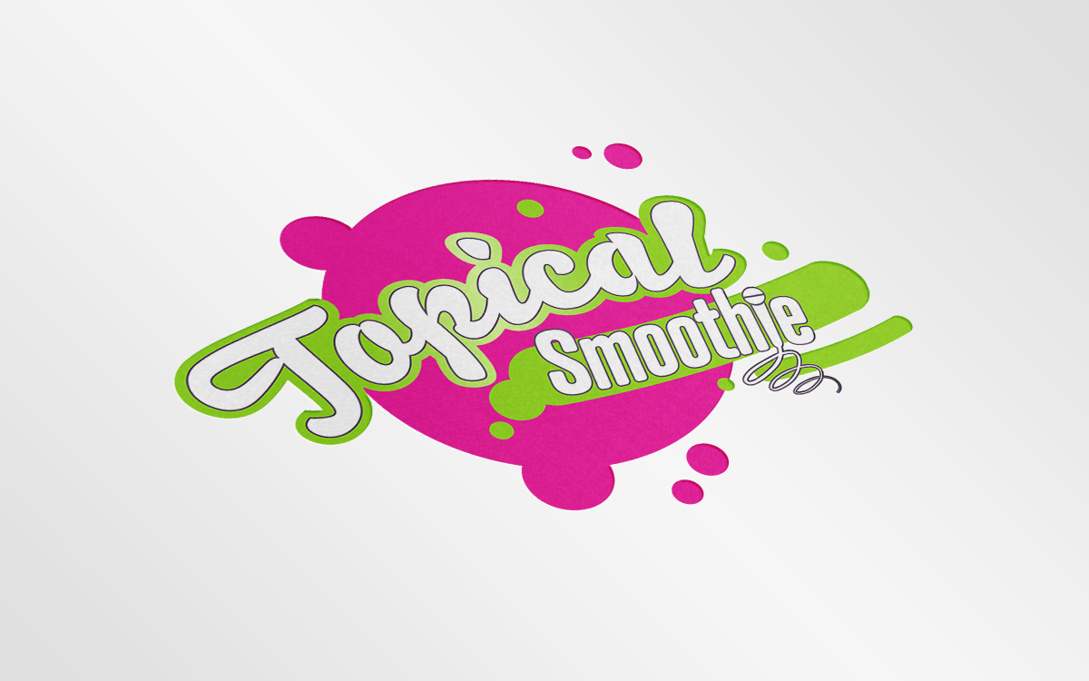 Topical Smoothie Logo Mockup