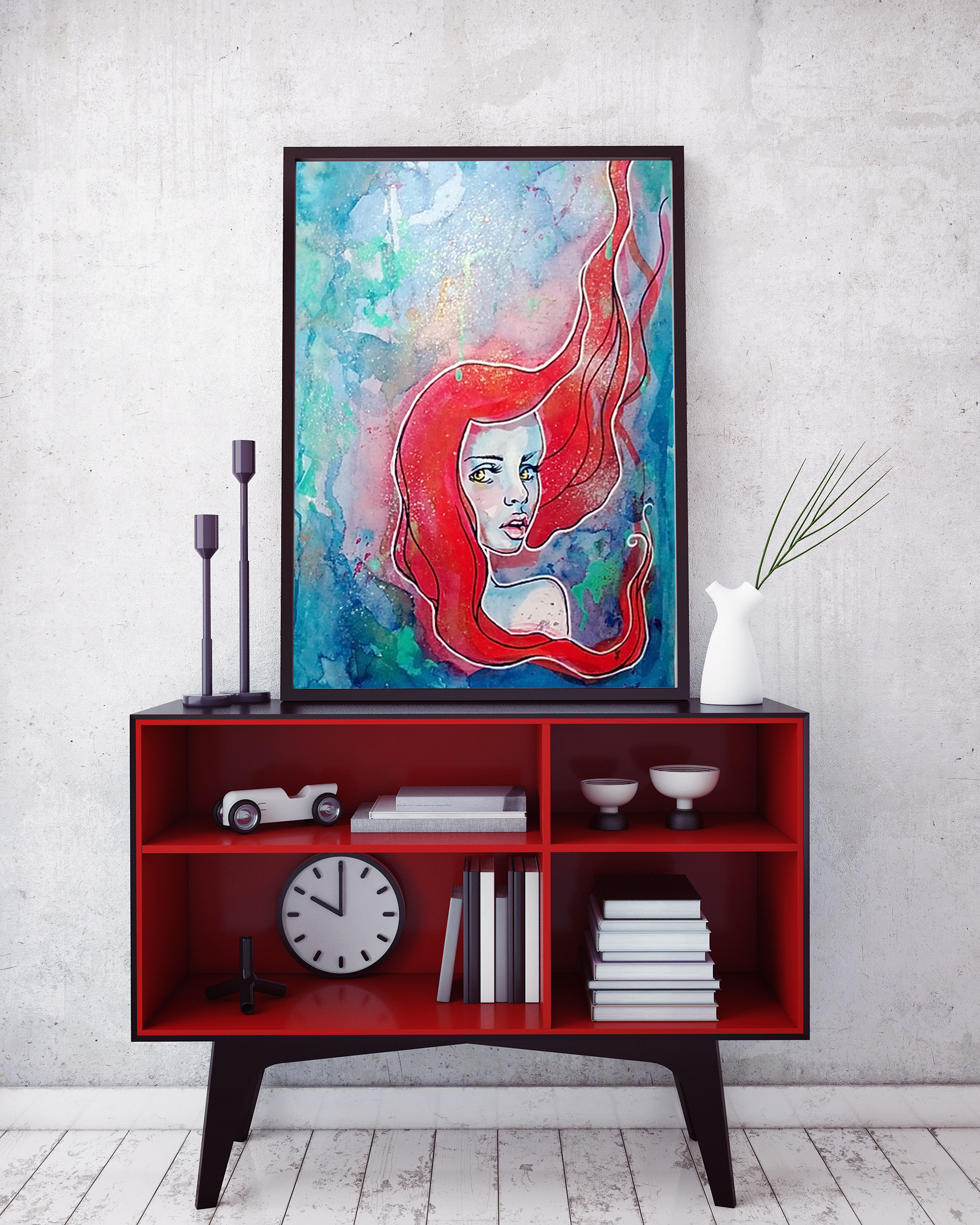 Red Hair Painting
