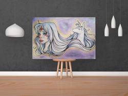 The Last Unicorn Painting