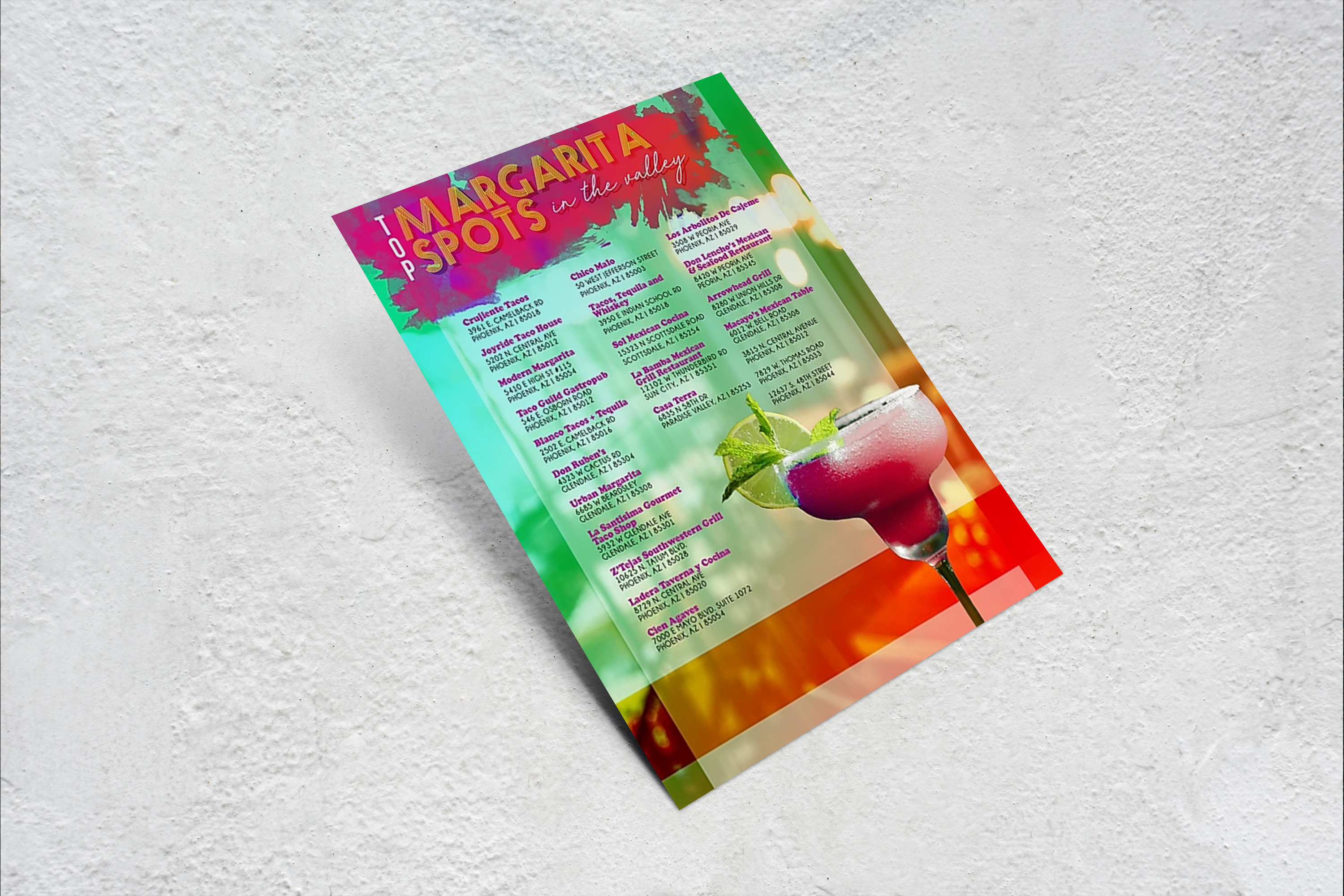 Valley Margarita Spots Flyer