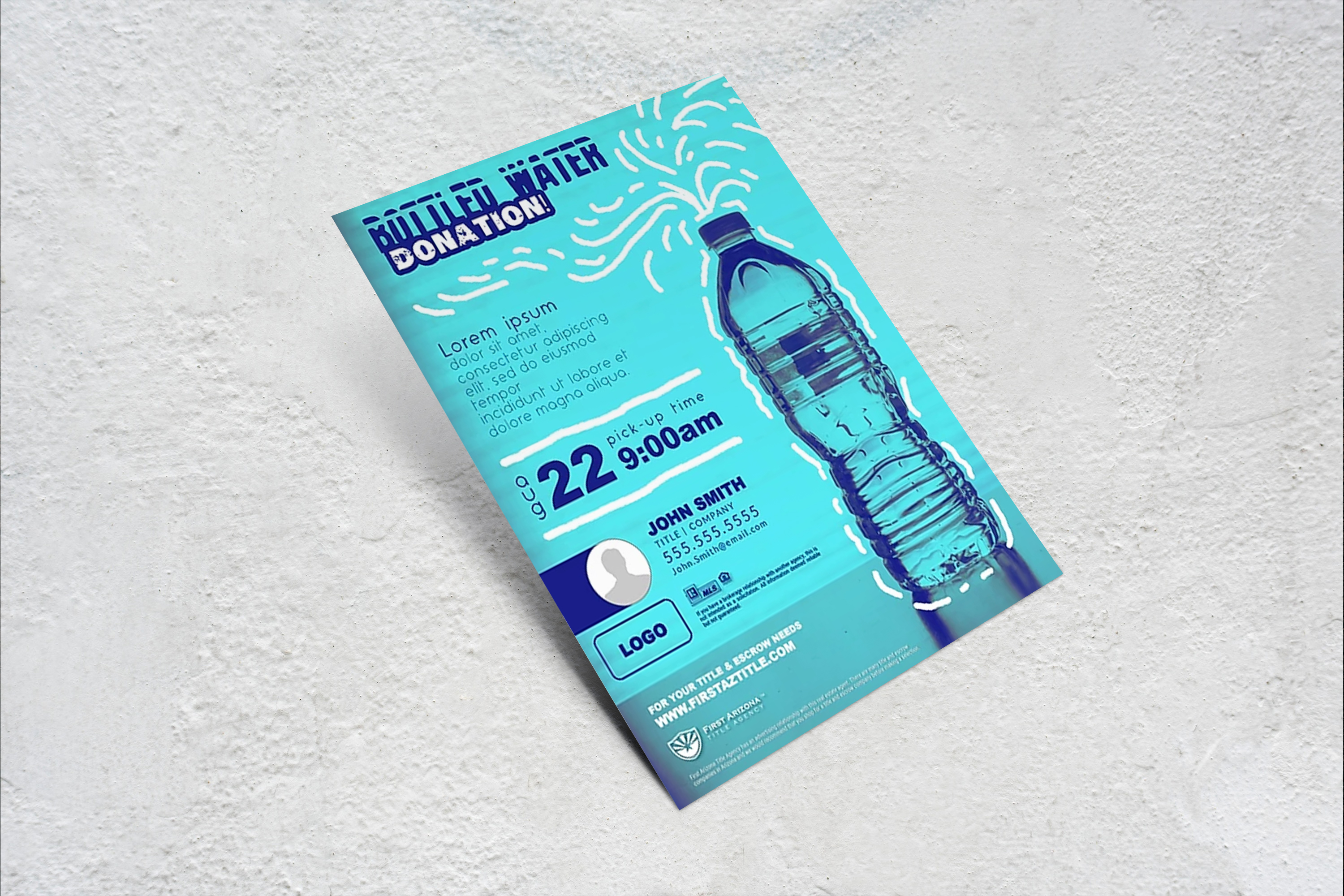 Bottled Water Donation Flyer