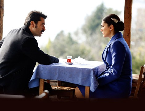 Mahir and Feride at their favorite table..