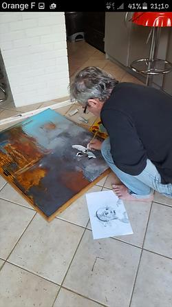 "Peinture ""Apparition"""