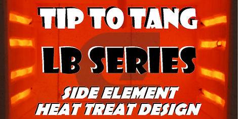 Tip to Tang Long Blade LB Series. Side element heat treat design.
