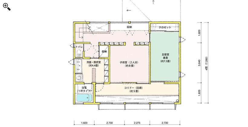 2階平面図(間取りのみ)