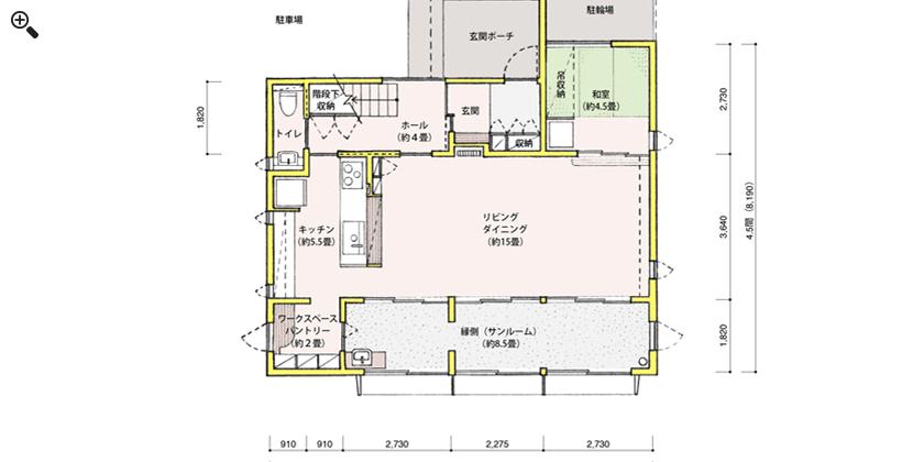 1階平面図(間取りのみ)