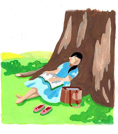 木陰で昼寝をしているところにそよそよと風が吹いてきた