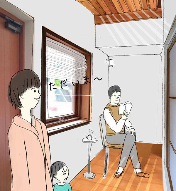 玄関イメージ|エアコンのいらない家・千葉N邸