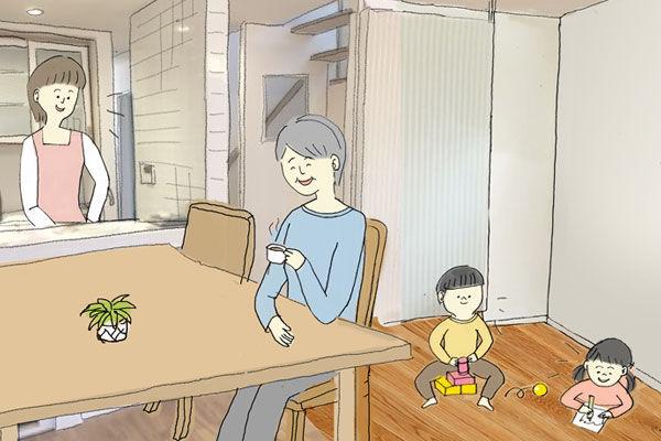 リビングダイニングのイメージ|エアコンのいらない家・千葉N邸