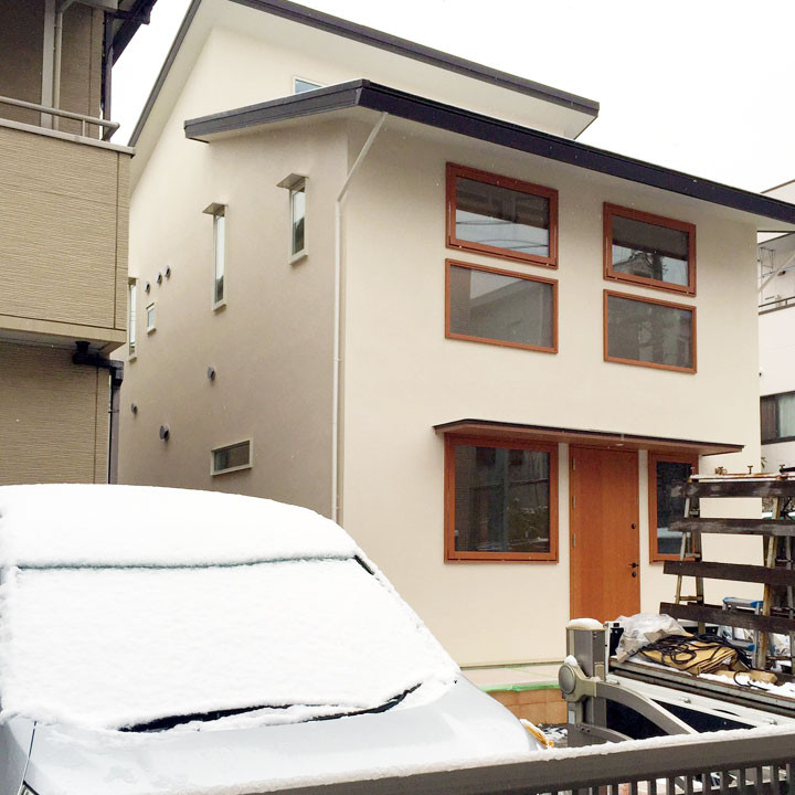 雪のエアコンのいらない家