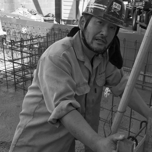 基礎工事とコンクリート打設の矢野さん