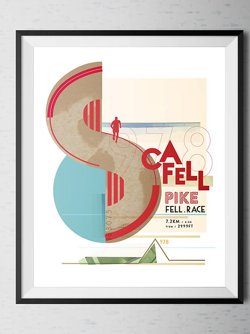 Scafell Pike Fell Race Commemorative Poster