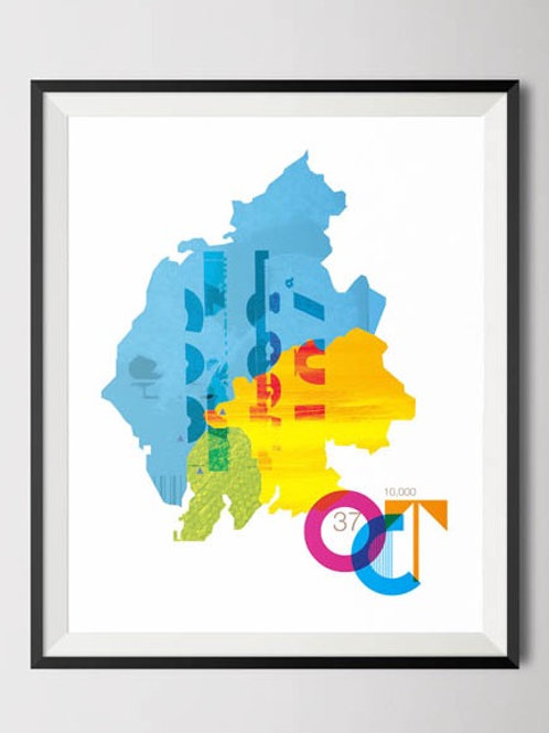 Old County Tops Inspired Poster Print