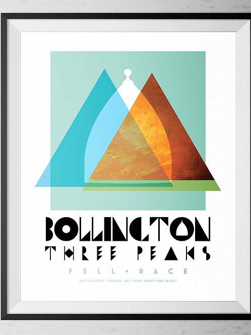 Bollington 3 Peaks Commemorative Race Poster