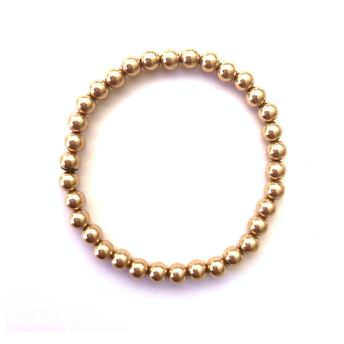 kids 4mm Rose Gold bead bracelet