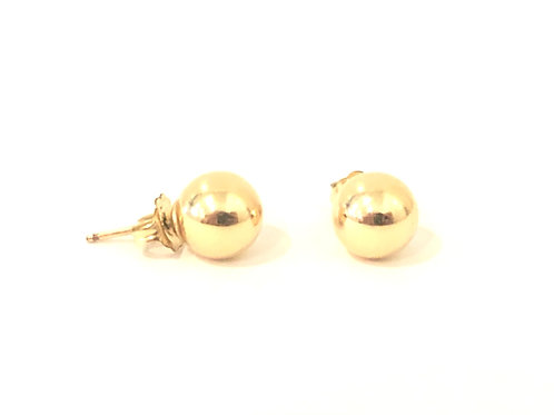 6mm Yellow Gold filled bead earring