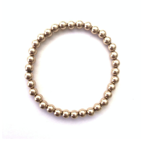 4mm Yellow Gold filled bead bracelet