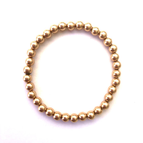 6mm Rose Gold filled bead bracelet
