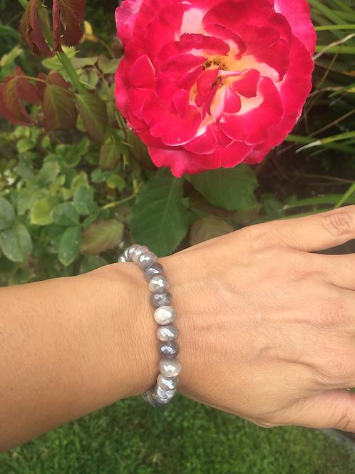 8mm Moonstone rondelle bead bracelet