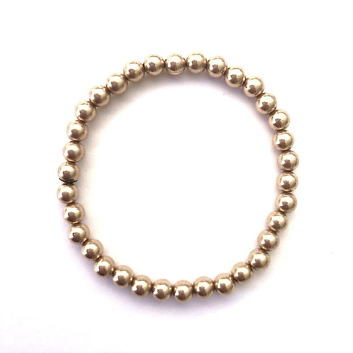 5mm Yellow Gold filled bead bracelet