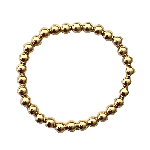 6mm Yellow Gold filled bead bracelet