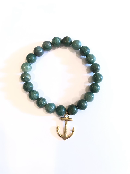 Green jade with anchor