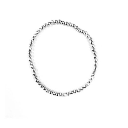 3mm Sterling Silver bead bracelet