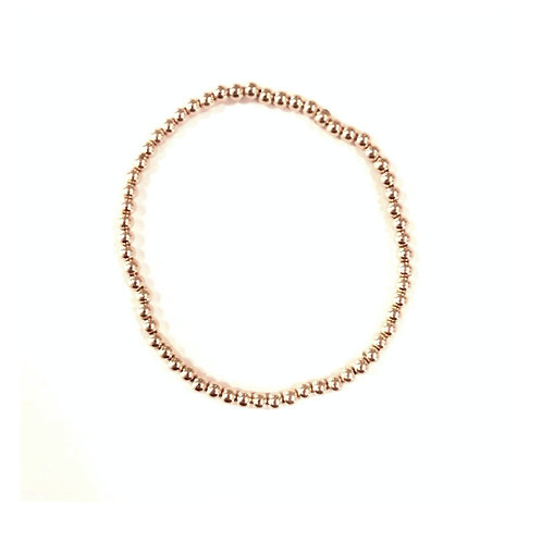 3mm Yellow Gold filled bead bracelet