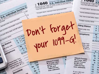 Don't Forget your 1099-G