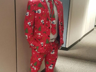 Brett's Holiday suit just needed recognition.  Nice!